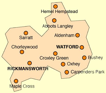 Map Watford