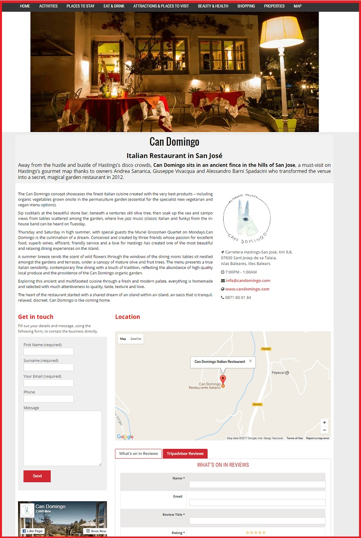 Sales Page Example when Advertise with us What's on in Watford.com